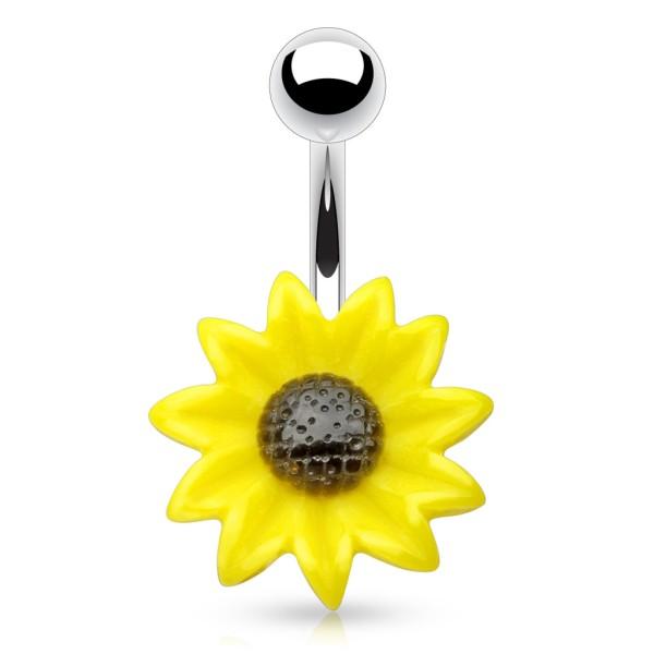 Słonecznik kolczyk do pępka piercing