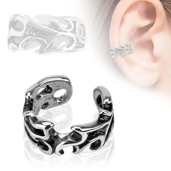 4e4f194f617d76 Liście Nausznica Ear cuff kolczyk do ucha i chrząstki ucha klips bez  przekłuwania piercing