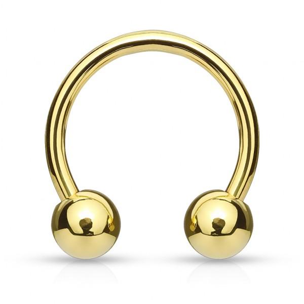 Złota podkowa kolczyk podkowa do wargi chrząstki ucha lub septum piercing