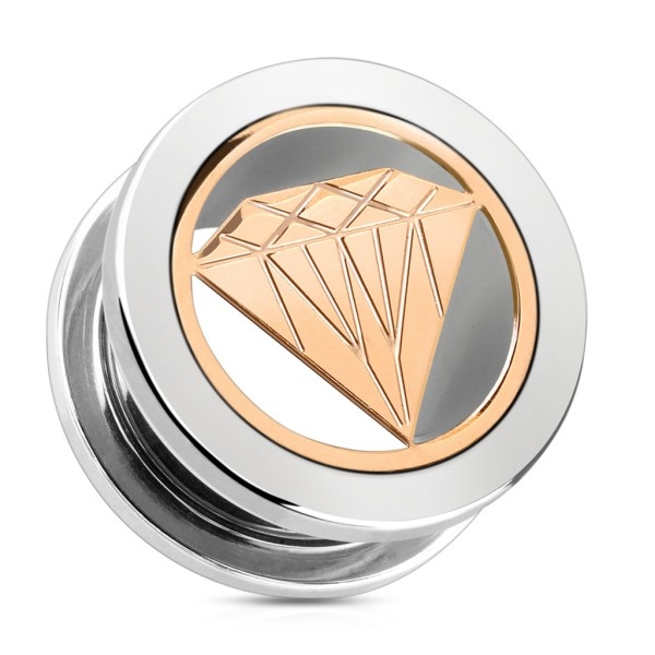 Diament Plug Flesh Tunnel piercing kolczyk do ucha