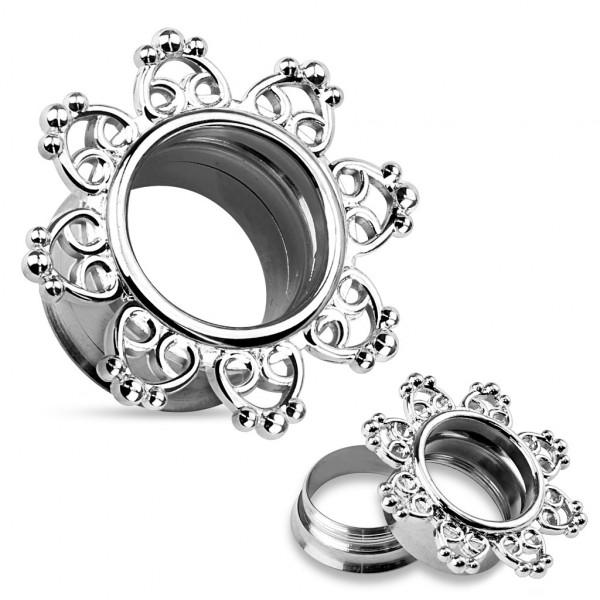 Mandala serce Plug Flesh Tunnel piercing kolczyk do ucha