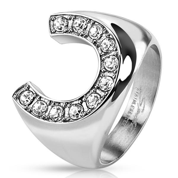 Podkowa sygnet pierścień damski męski