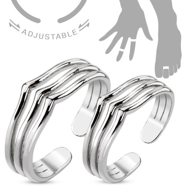 Linie pierścionek na palec u dłoni lub stopy rozmiar dający się regulować
