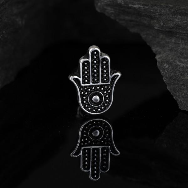 Dłoń opaczności kamień druza kolczyk do piercingu helix tragus sztanga