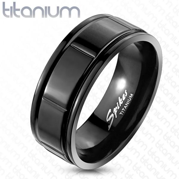 Tytan czarny pierścionek
