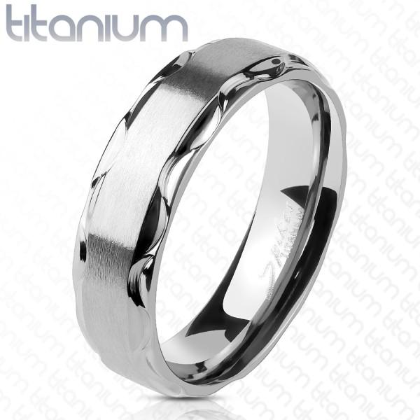 Obrączka z tytanu pierścionek biżuteria męska damska