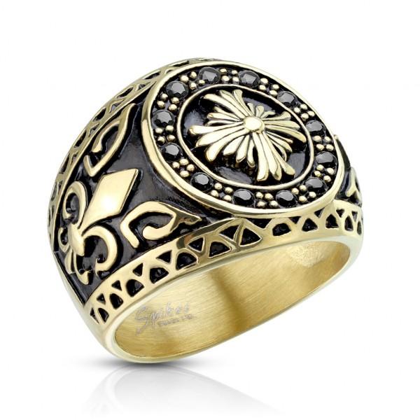 Krzyż obrączka pierścionek damski męski