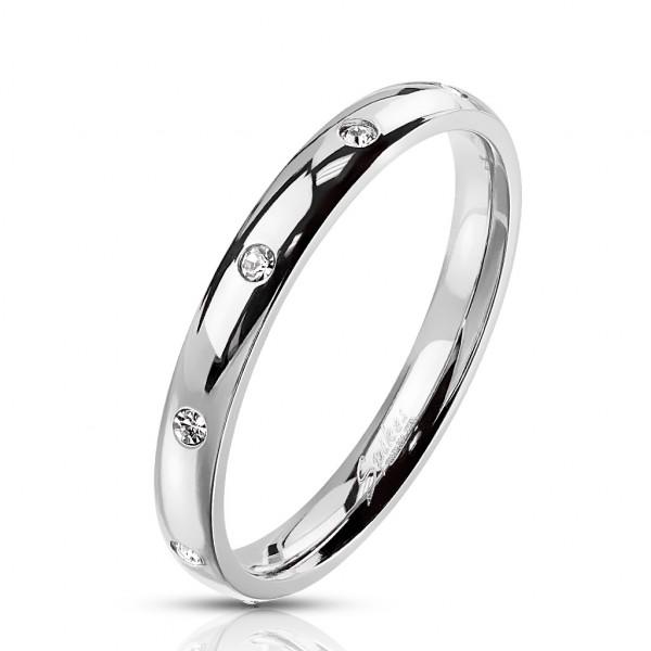 Wąski srebrny pierścionek damski męski obrączka