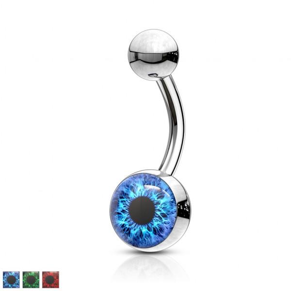 Niebieskie Oko kolczyk do pępka 316L