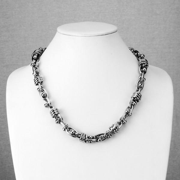Łańcuch na szyję biżuteria męska stal szlachetna