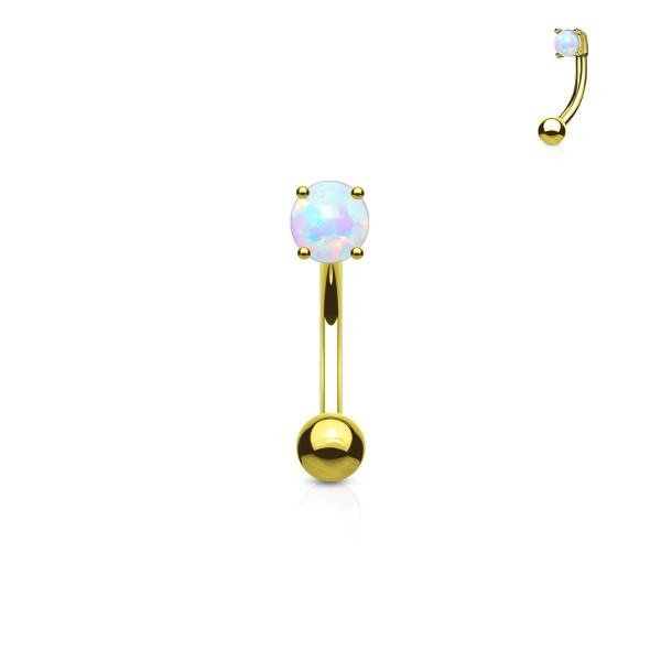 3 mm opal - top stal chirurgiczna 316L brew Rings/Petite pępek pierścionki