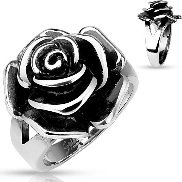 Pojedyńczy różowe pierścionek ze stali szlachetnej