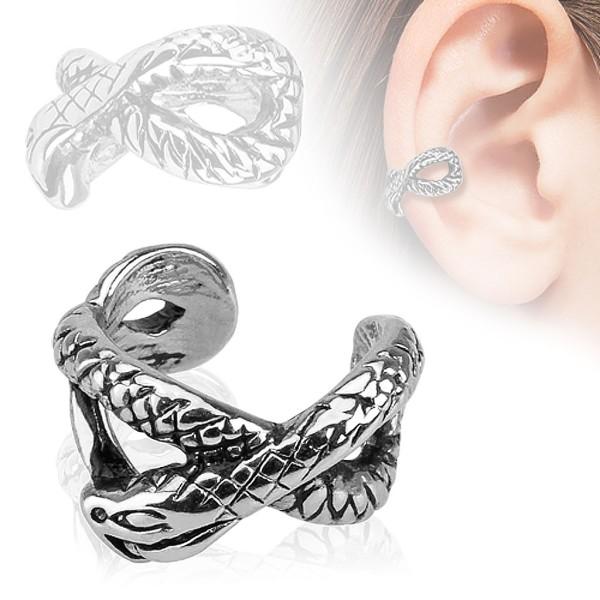 f51901ee5d382c Wąż Nausznica Ear cuff kolczyk do ucha i chrząstki ucha klips bez  przekłuwania piercing