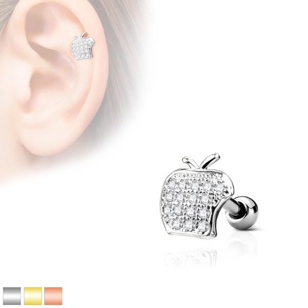 Jabłko kolczyk do chrząstki ucha helix flat tragus barbell studs