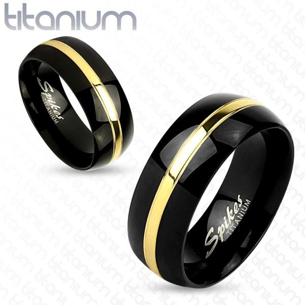 Złota lina czarny tytan para