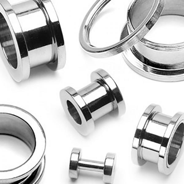 Gwint zewnętrzny screw fit Plug Flesh Tunnel piercing kolczyk do ucha