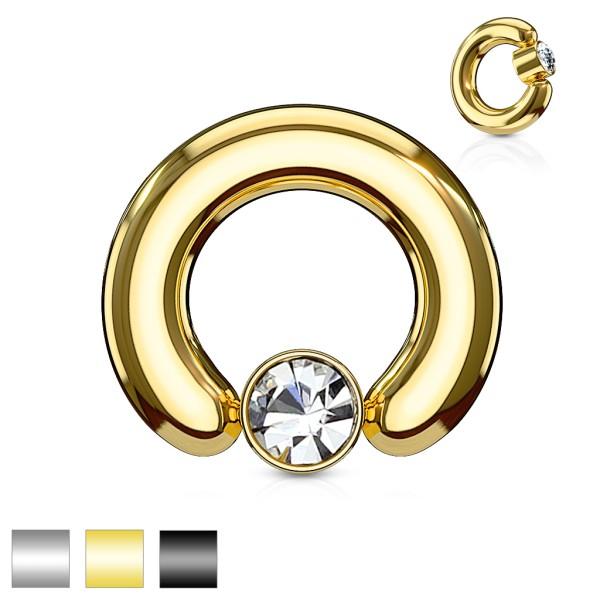 duży grubość kryształ zestaw okrągła płaski cylinder kółko CBR pierścionki stal chirurgiczna 316L