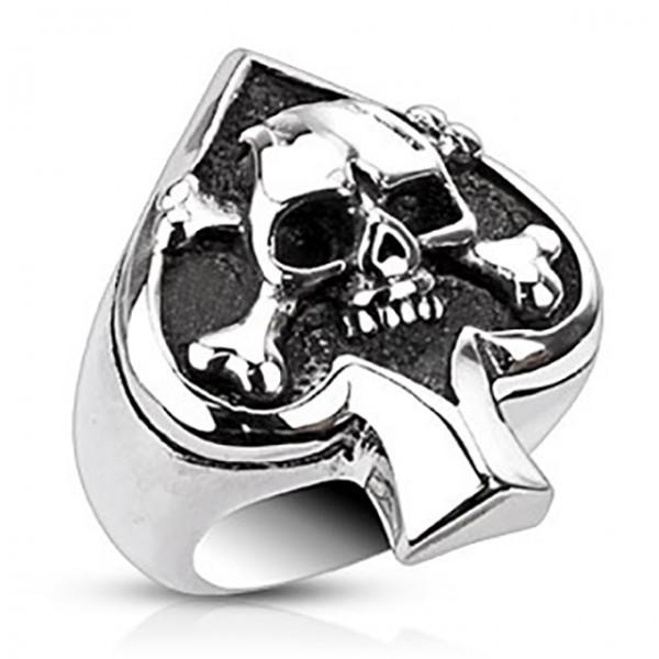 Czaszka pierścionek ze stali szlachetnej