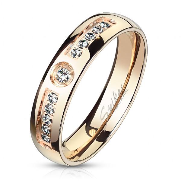 Elegancki złoty pierścionek damski obrączka