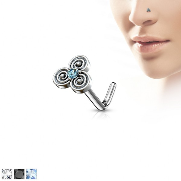 Trybal kolczyk do nosa kształt L piercing nostril