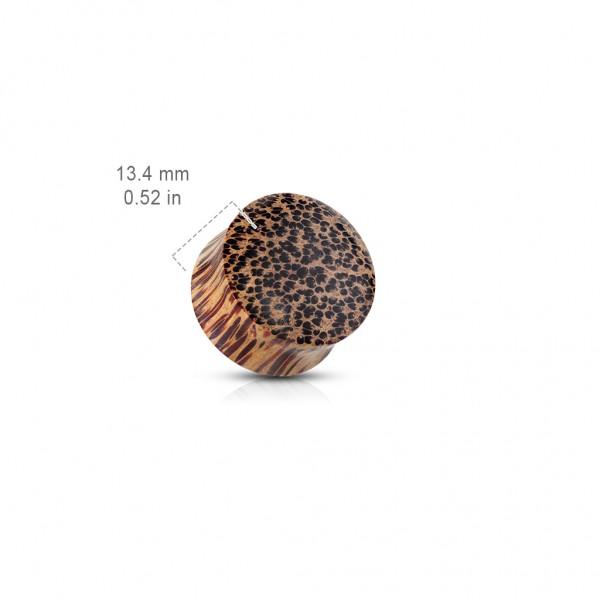 Plug Organiczny do ucha z drewna Kokosowego