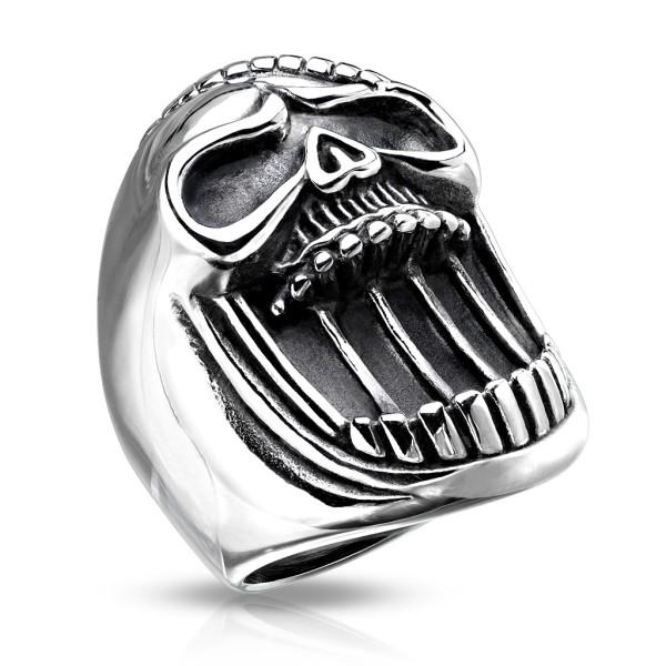 Czaszka pierścionek męski obrączka sygnet
