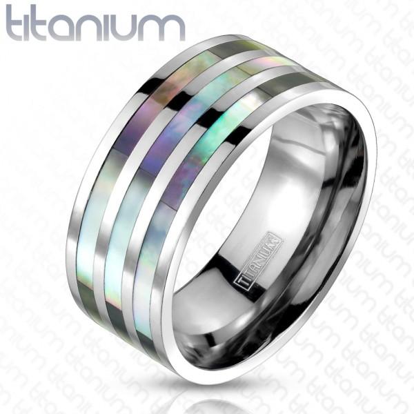 Trzykrotny słuchotki pierścionek tytan
