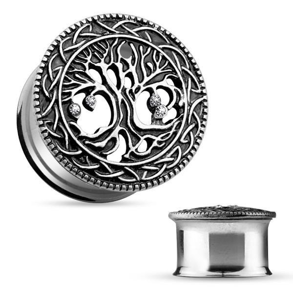 Drewno życia Plug Flesh Tunnel piercing kolczyk do ucha