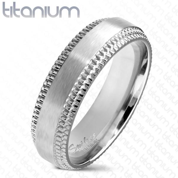 Obrączka z tytanu pierścionek dla panów sygnet biżuteria męska