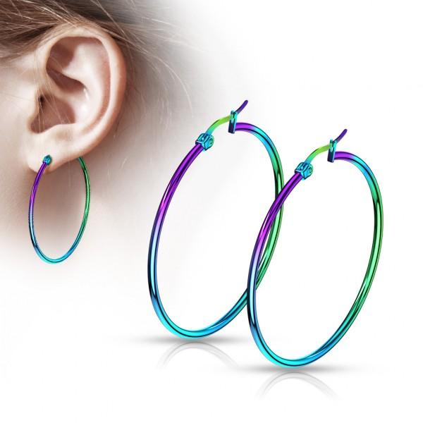 ein Paar Ohrringe aus Regenbogenfarben, 316L rostfreier Stahl