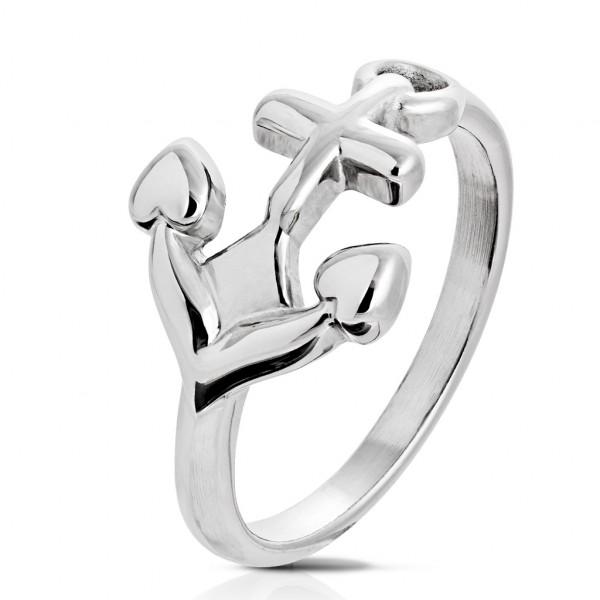 Kotwica pierścionek ze stali szlachetnej