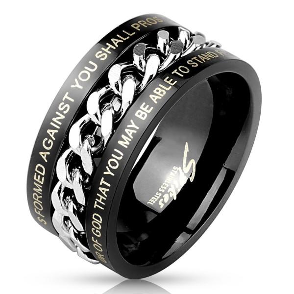 łańcuszek tarcza pierścionek ze stali szlachetnej