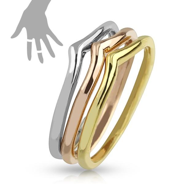 Złoty srebrny rożowe złoto 3 pierścionki na palec u dłoni lub stopy rozmiar dający się regulować
