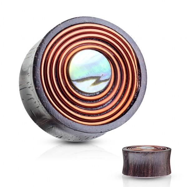 Perłowy Środek Wir Tunel organiczny z drewna Sono