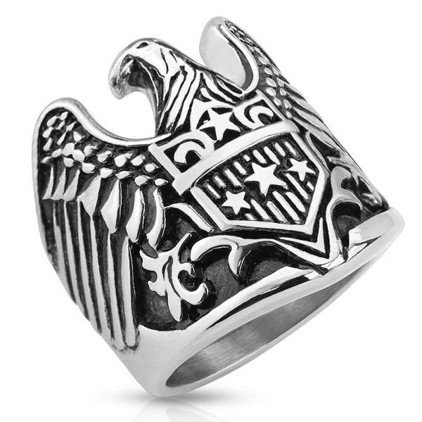 Orzeł pierścionek damski lub męski na palec ręki stal szlachetna