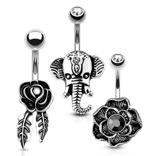 3 sztuki zestaw kolczyków do piercingu pępka