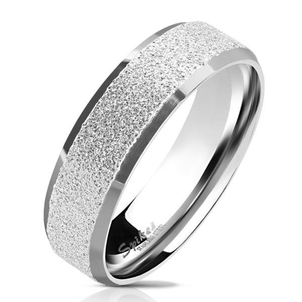Srebrny pierścionek stal chirurgiczna 316L pierścionek