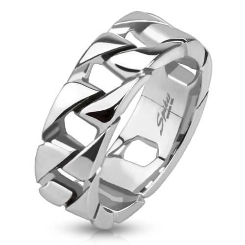 Łańcuszek pierścionek ze stali szlachetnej