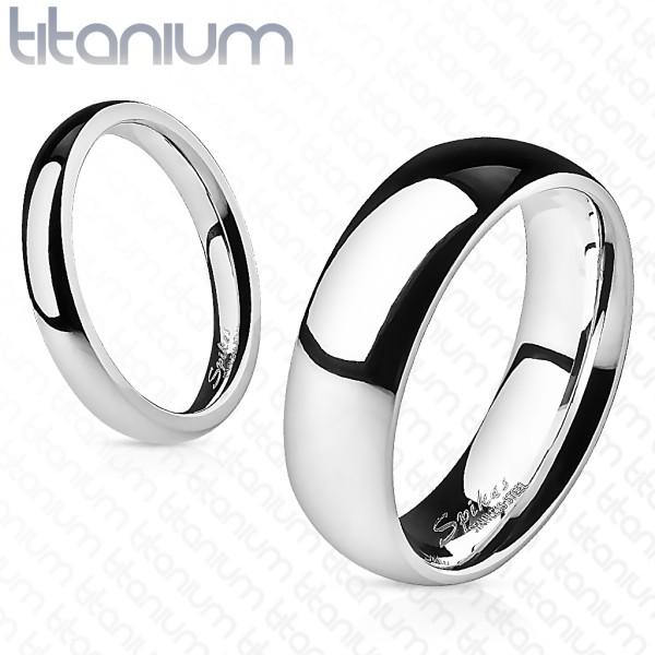 Klasyczna elegancka srebrna obrączka z tytanu