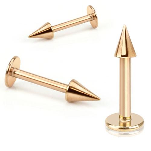 Rożowe złoto kolczyk labret do wargi ust brody twarzy Madonna Monroe lub chrząstki ucha tragus helix stożek piercing