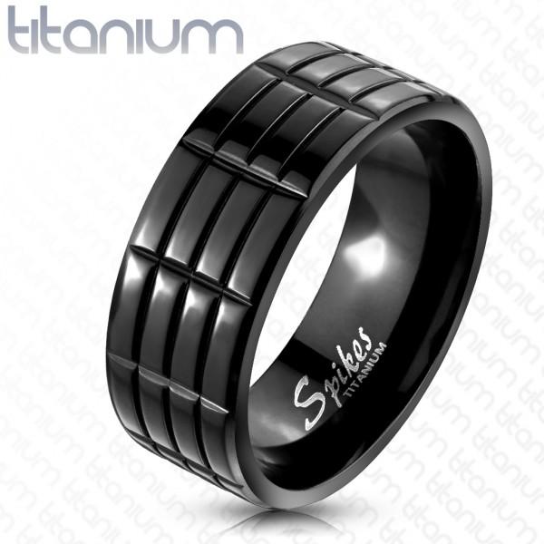Ring schwarz Titan