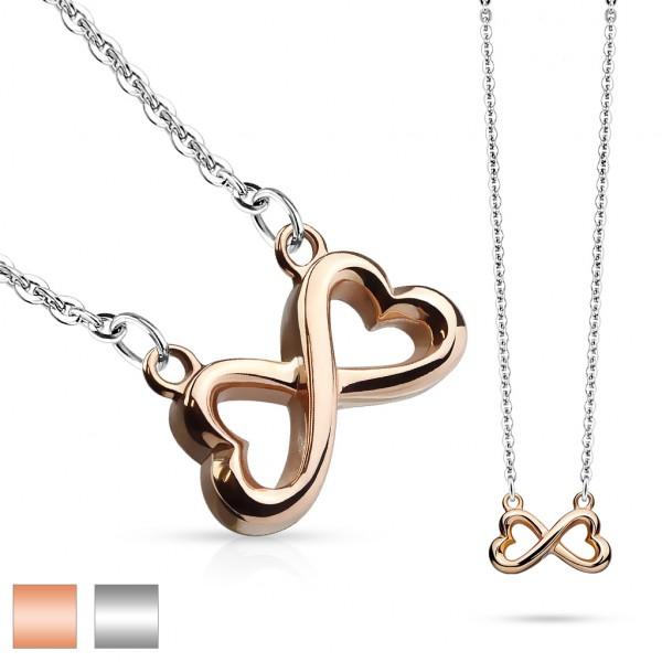 - serce zawieszka ze stali szlachetnej z łańcuszkiem łańcuszek