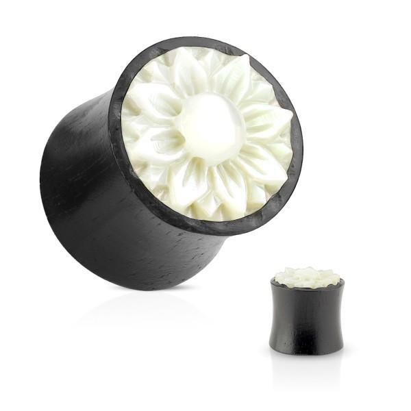 Kwiat z kości drewno Plug Flesh Tunnel piercing kolczyk do ucha