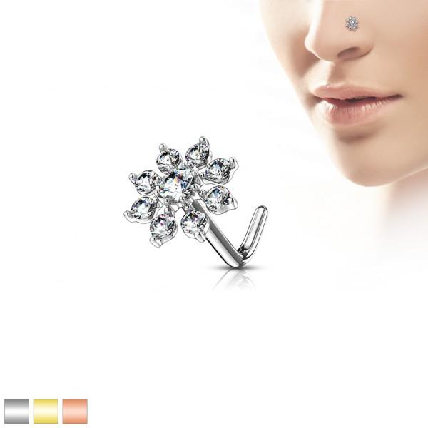 Rozgwiazda kolczyk do nosa kształt L piercing nostril