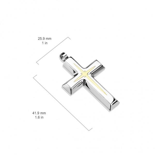 Krzyż zawieszka stal szlachetna 316L