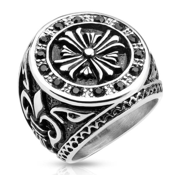 Krzyż celtycki pierścionek damski lub męski na palec ręki stal szlachetna