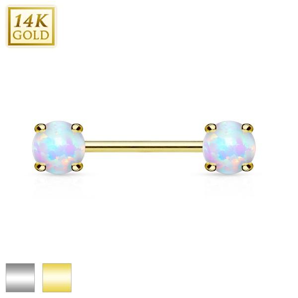 Doppel Opal Nippelpiercing