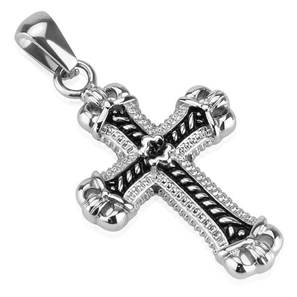 Krzyż zawieszka stal szlachetna