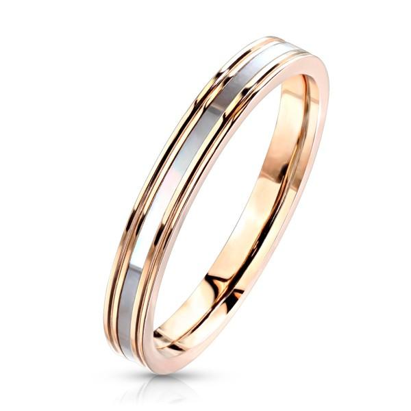 Pierścionek zaręcznynowy z cyrkoniami różowe złoto