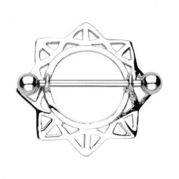 Gwiazda kolczyk intymny do sutka sutków piersi
